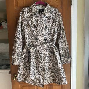 Banana Republic leopard print raincoat